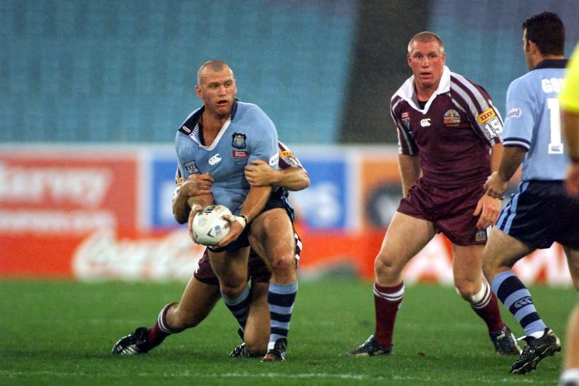 Blues forward Adam Muir in 2002.