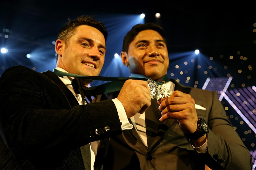 Cooper Cronk and Jason Taumalolo were joint winners of the Dally M Medal in 2016.