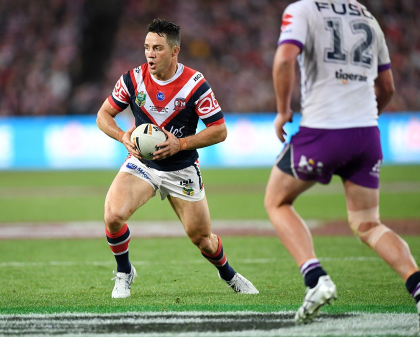 Roosters half Cooper Cronk in the 2018 NRL grand final.