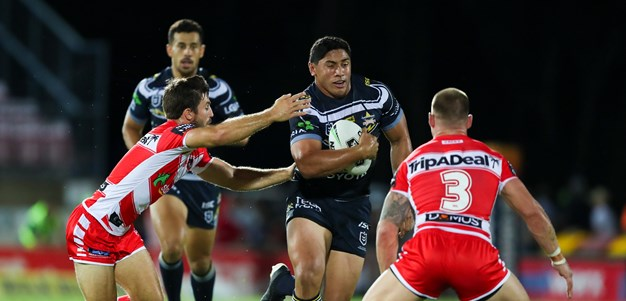 Taumalolo show guides Cowboys past Dragons