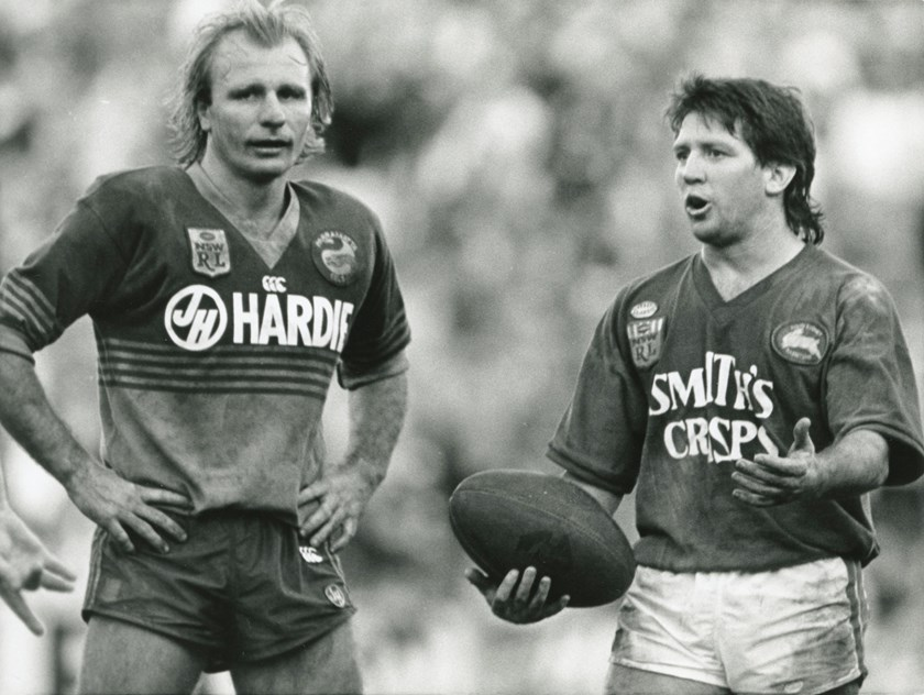 Peter Sterling and Craig Coleman during a match.