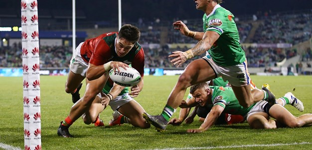 Rabbitohs hold on to defy gutsy Raiders