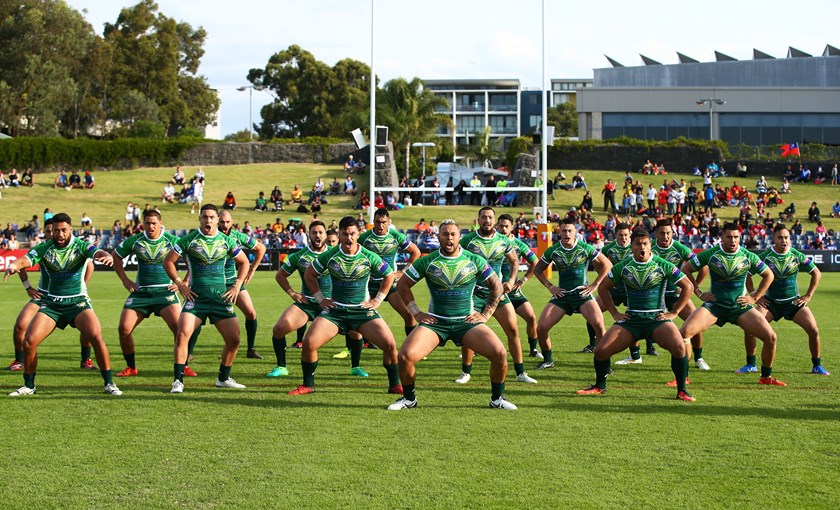 Cook Islands players performing their cultural dance.