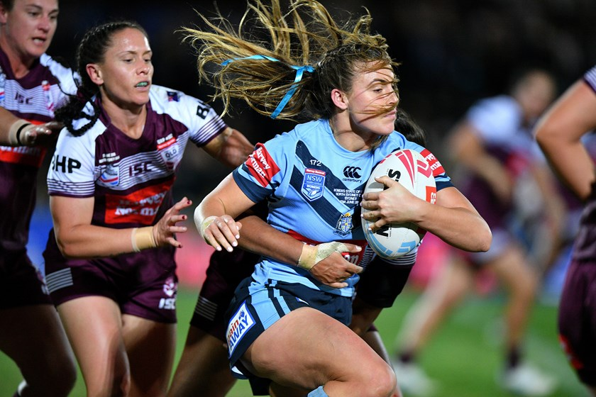 Blues winger Jessica Sergis during last year's Origin against Queensland.