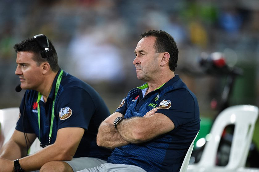 Raiders coach Ricky Stuart.