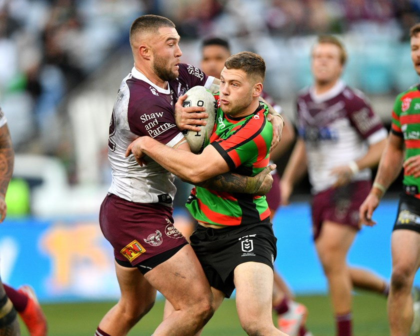 Curtis Sironen tries to stop Bayley Sironen.