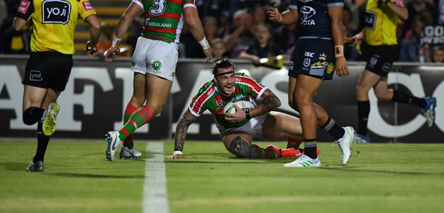 Under-strength Rabbitohs finish with a bang to beat Cowboys