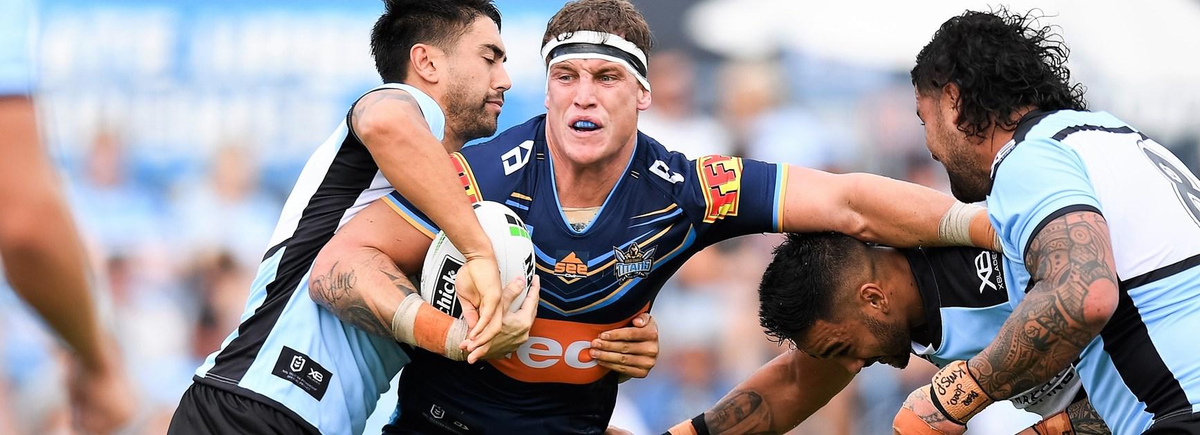 Gold Coast Titans prop Jarrod Wallace.