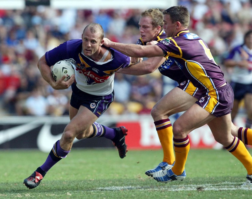 Scott Hill in action against the Broncos in 2004.