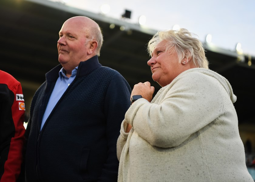 James Graham's parents John and Dianne at Jubilee on Saturday.