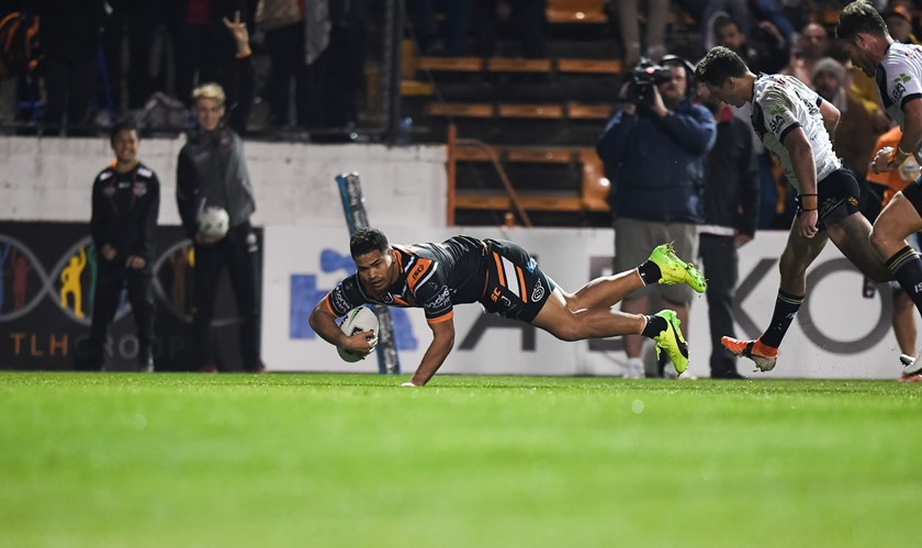 Esan Marsters scores against the Cowboys.