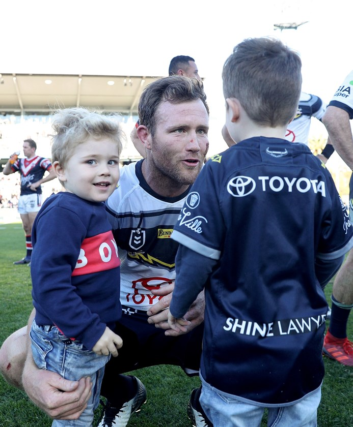 Gavin Cooper after his 300th NRL match.