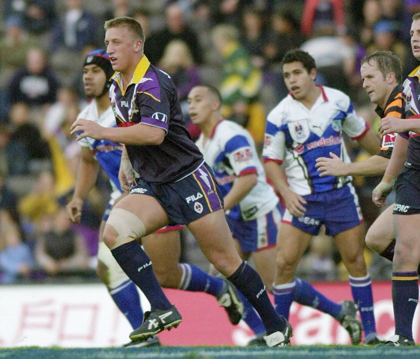 Keith Mason in action for the Storm.