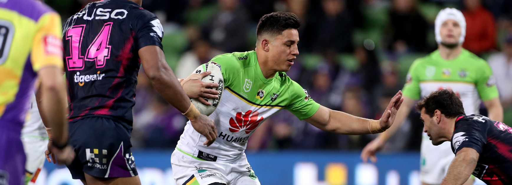 Canberra Raiders back-rower Joseph Tapine.