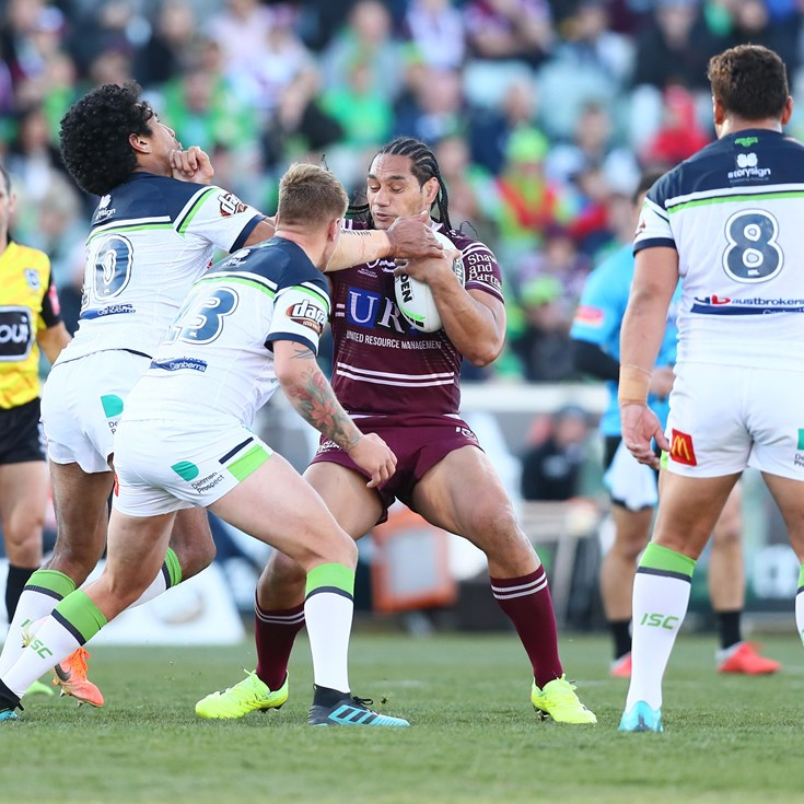 Injury-hit Manly go top four after Leilua brain snap
