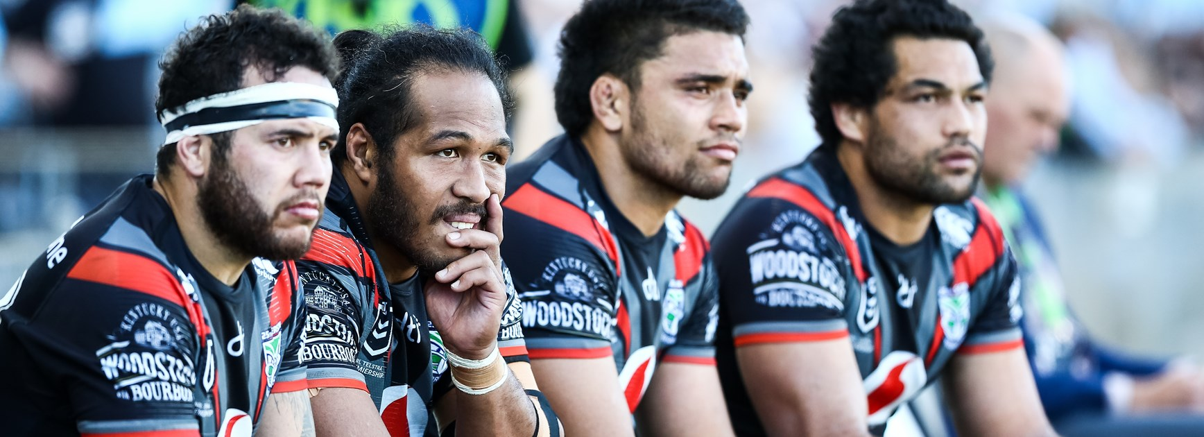 The New Zealand Warriors bench.