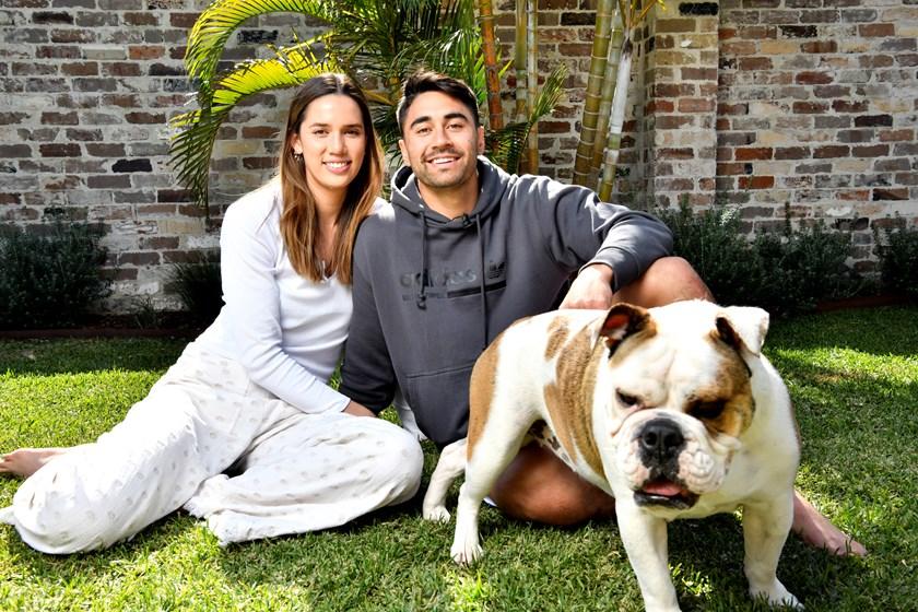 Shaun Johnson and his fiancee Kayla Cullen.