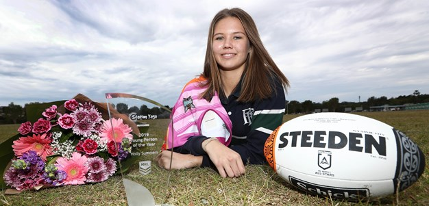 Holly Summers crowned NRL Young Person of the Year