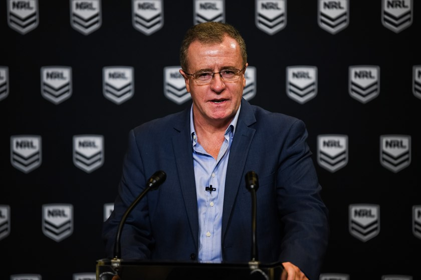 NRL head of football Graham Annesley.