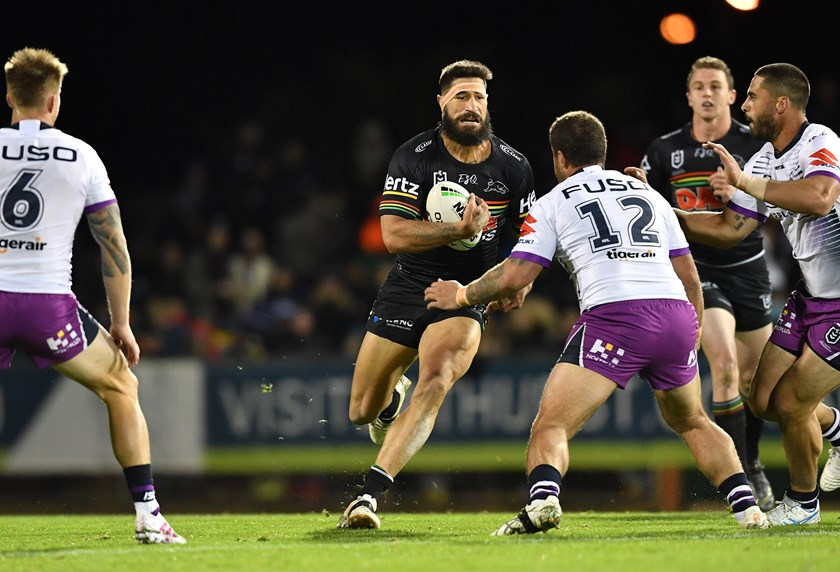 Penrith prop James Tamou.
