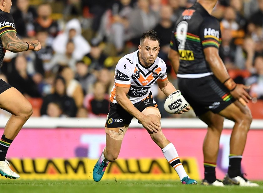 Wests Tigers five-eighth Josh Reynolds.