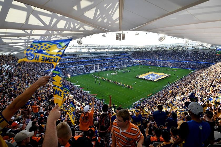 Parramatta fans at Bankwest Stadium.