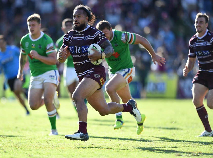 Sea Eagles winger Jorge Taufua.