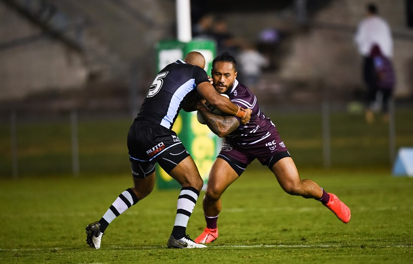 Manly winger Jorge Taufua.