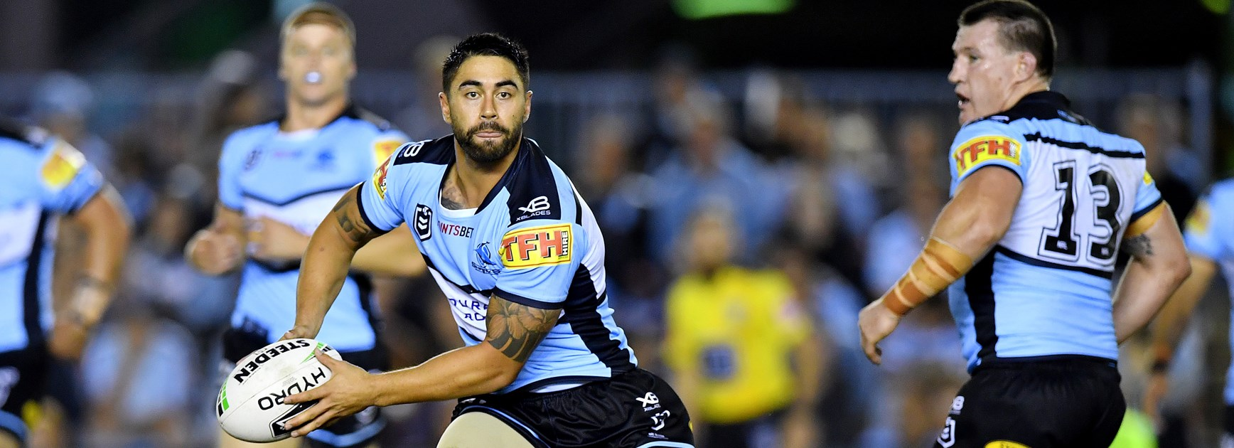 Sharks halfback Shaun Johnson.