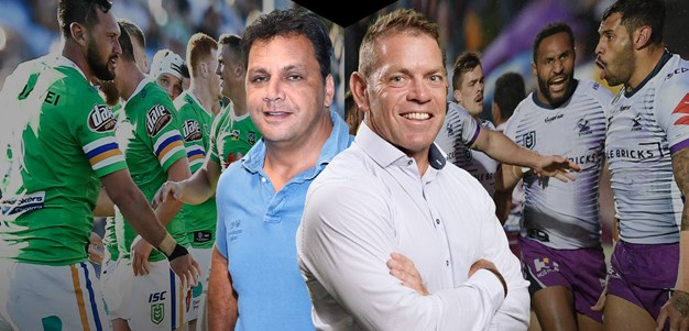 Storm v Raiders: Guest coaches Kimmorley and Renouf go head to head