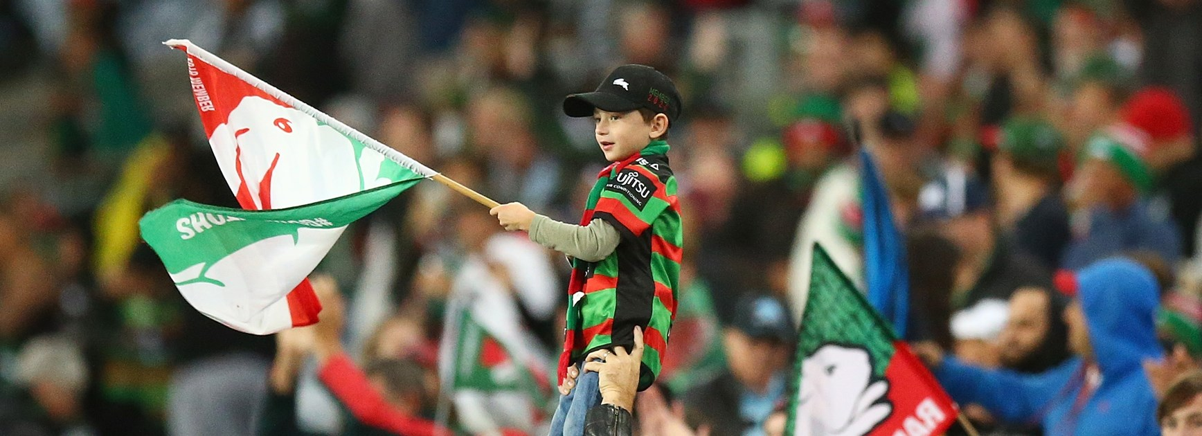 A young Rabbitohs fan.