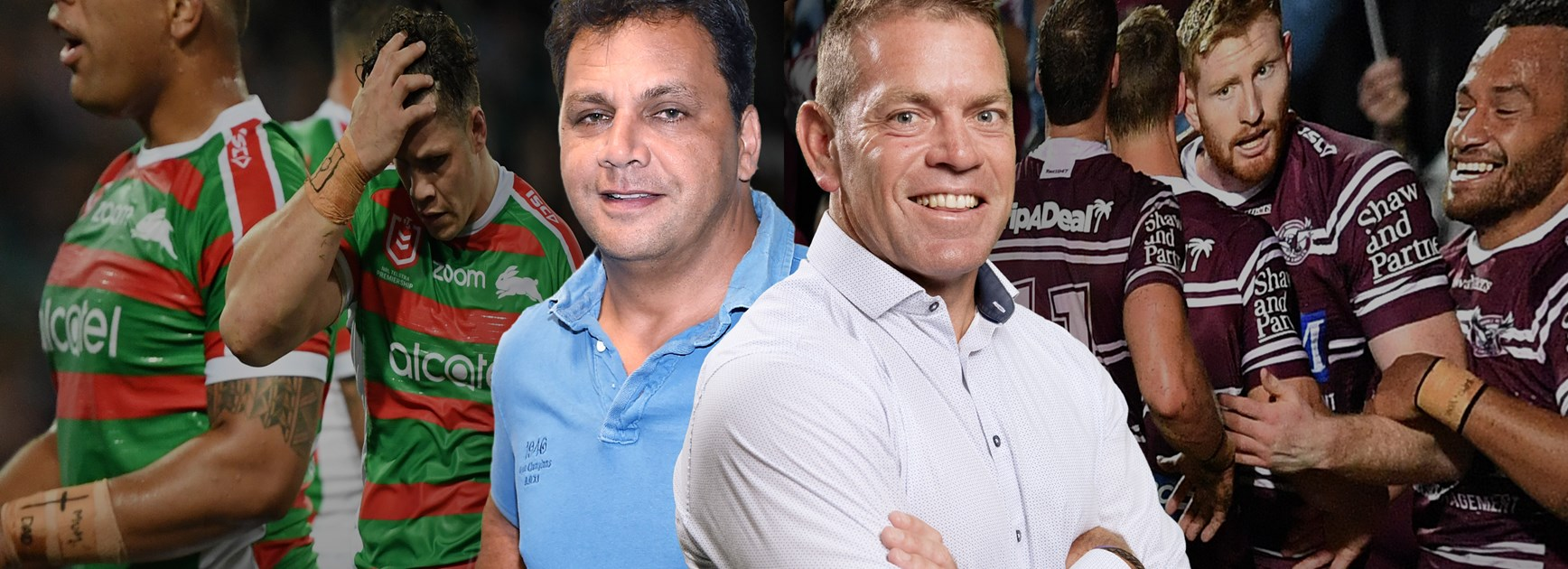 Rabbitohs v Sea Eagles: Guest coaches Kimmorley and Renouf go head to head