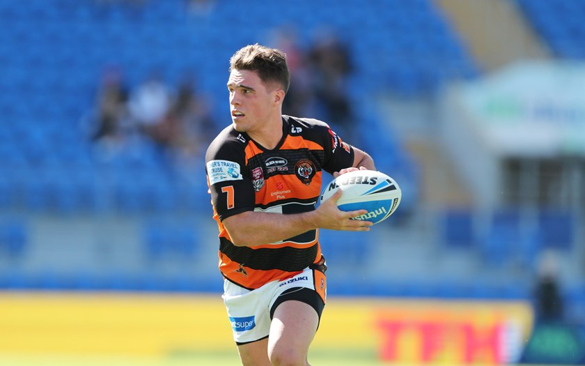 Brodie Croft in action for Easts Tigers.