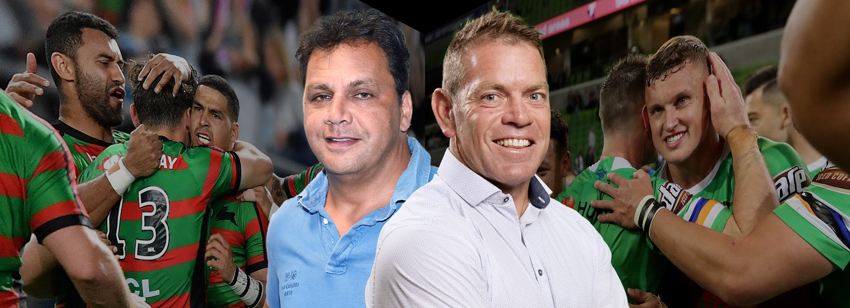Raiders v Rabbitohs: Guest coaches Kimmorley and Renouf go head to head