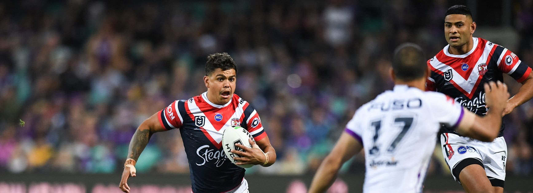 Roosters centre Latrell Mitchell.