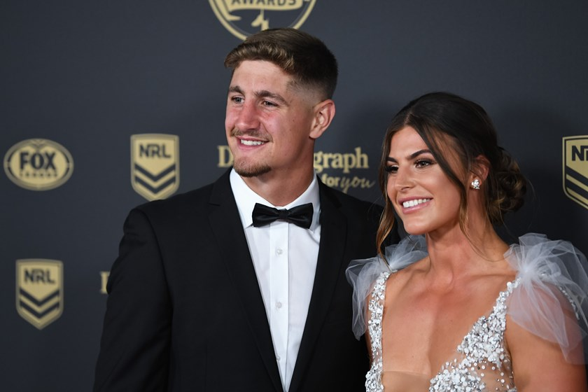 Zac Lomax and Jessica Sergis arrive in style at the Dally Ms.