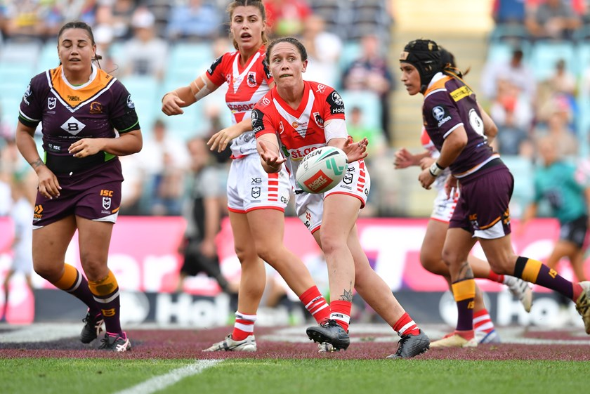 Brittany Breayley sparks the Dragons during the 2019 NRLW grand final.