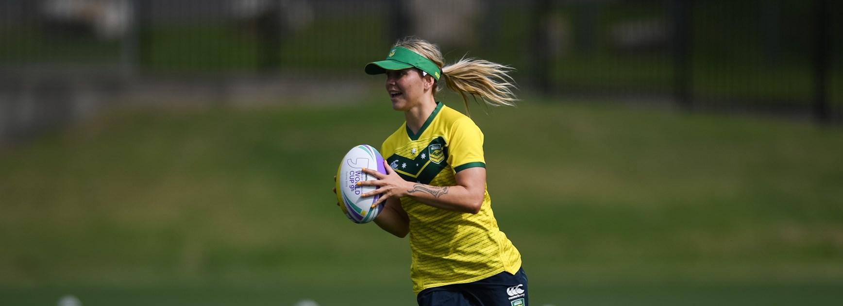 Botille Vette-Welsh at Australian Women's Nines training.