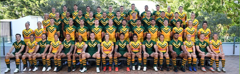 The Australian squads for the three matches in Wollongong.