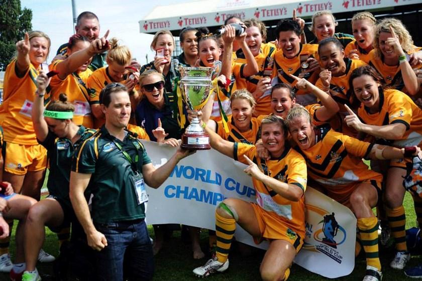 The Jillaroos team that won the 2013 World Cup.