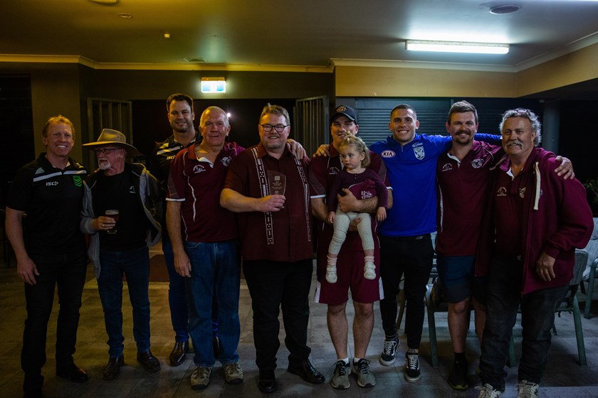 Alan Tongue, Adam Elliott and members of the Tathra rugby league community.