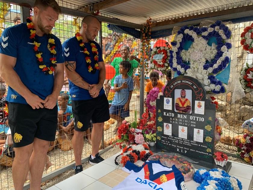 Great Britain and Canberra Raiders stars Elliott Whitehead and Josh Hodgson pay tribute to Kato Ottio.