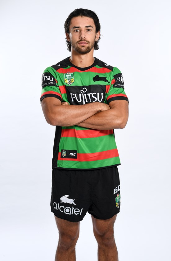 Jesse Arthars at the Rabbitohs in 2018.