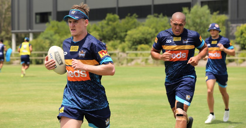 AJ Brimson at Titans training.