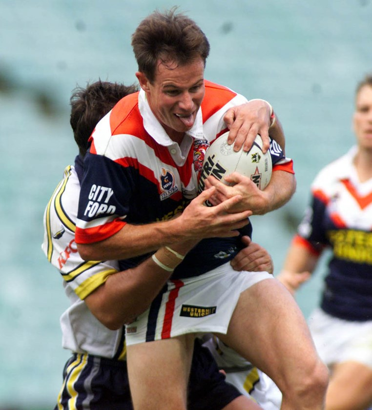 Justin Holbrook during his stint with the Roosters.
