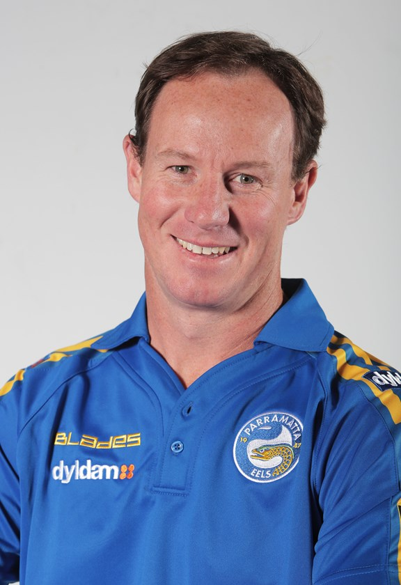 Justin Holbrook during his stint as a Parramatta in 2014.