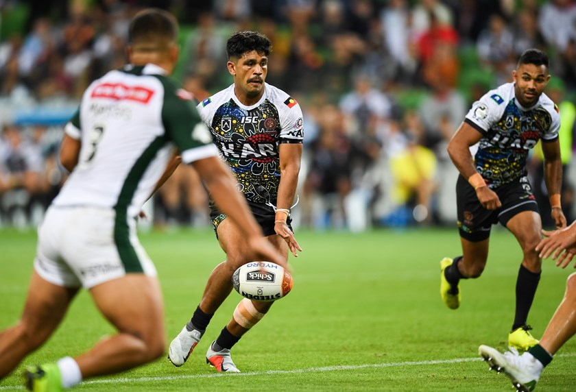 Titans centre Tyrone Peachey playing in the 2019 All Stars game.