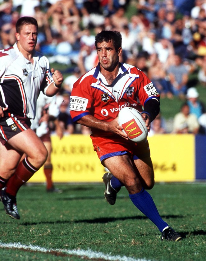Auckland Warriors halfback Stacey Jones.