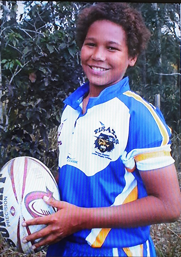 Young Moses Mbye in his Noosa Pirates jersey.