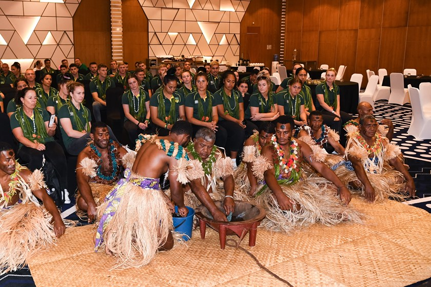 The Australian PM's XIII are greeted on arrival in Fiji.